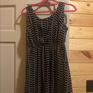 Band Of Gypsies Black And White Dress Small